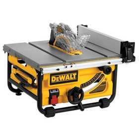 DeWalt DWE7480 10 In Compact Job Site Table Saw With Site-Pro Modular Guarding System