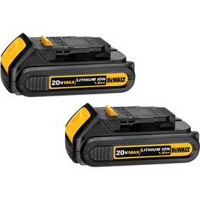 DeWalt DCB201-2 20v Max Lithium Ion Compact Battery Pack (1.5 Ah) - 2 Pack