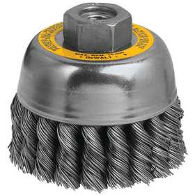 DeWalt DW4915 3 in X M10-1.25 Hp .020 Carbon Knot Wire Cup Brush