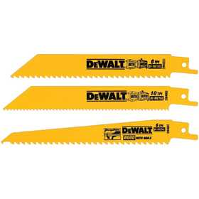 DeWalt DW4853 3 Piece Bi-Metal Reciprocating Saw Blade Set