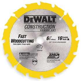 DeWalt DW9155 6-1/2 In 18t Carbide Blade (Fast Cutting)
