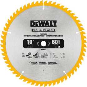 DeWalt DW3106 Series 20 10 in 60t Fine Finish Saw Blade