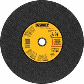DeWalt DWA8011 14 In X 7/64 In X 1 In General Purpose Chop Saw Wheel-Metal