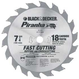 DeWalt 67-717 7-1/4 in Piranha Carbide 18t Blade