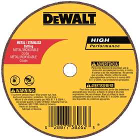 DeWalt DW8723 4 In X 1/16 In X 5/8 In A60t Long Life Wheel