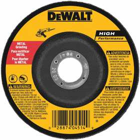 DeWalt DW4624 6 In X 1/4 In X 7/8 In High Performance Metal Grinding Wheel