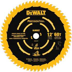 DeWalt DW3216 Pt 12 in 60t Smooth Crosscutting Saw Blade