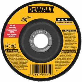 DeWalt DW4619 5 In X 1/4 In X 7/8 In High Performance Metal Grinding Wheel