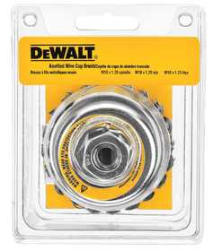 DeWalt DW4916 4 in X 5/8 in -11 Hp .020 Carbon Knot Wire Cup Brush