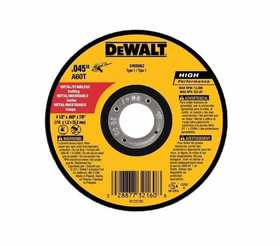 DeWalt DW8062B5 4-1/2 In X .045 In X 7/8 In Metal And Stainless Cutting