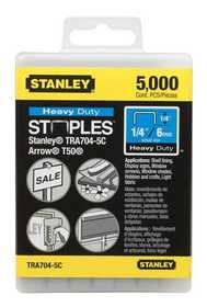 Stanley Tools TRA704-5C Heavy Duty Staples 1/4 In 5000bx