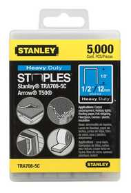 Stanley Tools TRA708-5C Heavy Duty Staples 1/2 5000bx Cc