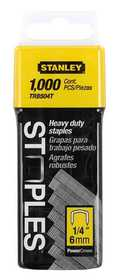 Stanley Tools TRB504T Heavy Duty Staples 1/4 In 1000bx