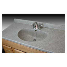 Imperial Marble B3122 Olympic Bowl Vanity Top 11/2 in 31x22 Cappucino