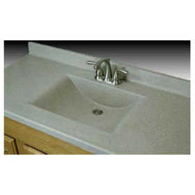 Imperial Marble W3722 Wave Bowl Vanity Top 11/2 in 37x22 Tan