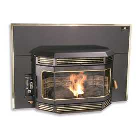 United States Stove Co SP2000IS Insert Pellet Stove With Gold Trim