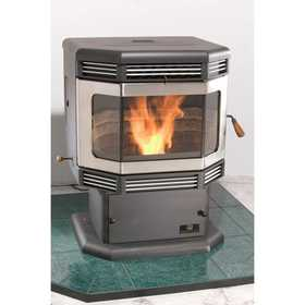 United States Stove Co SP2700PDBN Pedestal Pellet Stove With Brushed Nickel Trim