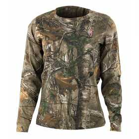 Browning 3014562401 TShirt Wasatch Ladies Long Sleeve RealTree Xtra S