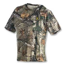 Browning 3011252403 Short Sleeve Tee Shirt Wasatch RealTree Xtra L