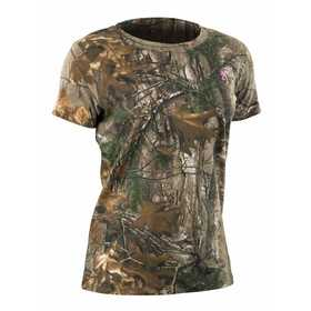 Browning 3014552401 T-Shirt Wasatch Ladies Short Sleeve RealTree Xtra S