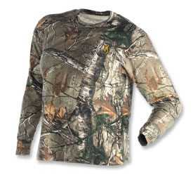 Browning 3011372402 T-Shirt Wasatch Jr Long Sleeve RealTree Xtra M