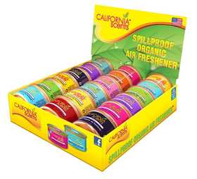 CALIFORNIA SCENTS CAN-18CTMC Spillproof Organic Air Freshener Canisters Assorted Scents