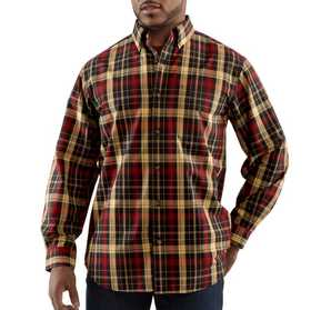 Carhartt 100084-001 Mens Bellevue Plaid Long Sleeve Shirt Mr