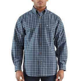Carhartt 100084-428 Mens Bellevue Plaid Long Sleeve Shirt Xlr