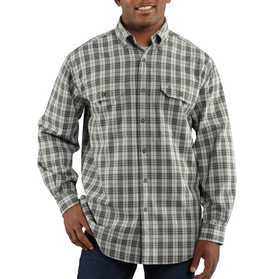 Carhartt 100123-490 Fort Plaid Long Sleeve Shirt Mr