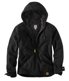 Carhartt 100733-001 Mens Active Jacket Duck Hoodie Black 2xl