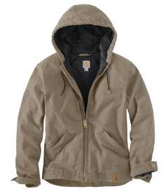 Carhartt 100733-251 Mens Active Jacket Duck Hoodie Desert M