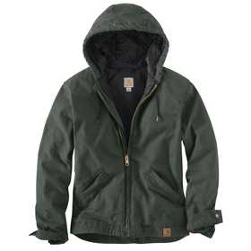 Carhartt 100733-316 Mens Active Jacket Duck Hoodie Moss 2xl
