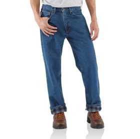 Carhartt B172-DST Mens Relaxed Fit Flannel Lined Jeans
