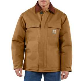 Carhartt C003-BRN Mens Duck Traditional Arctic Quilt Lined Coat Sr