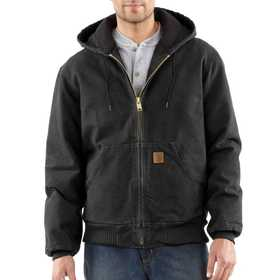 Carhartt J130BLK Mens Sandstone Flannel Lined Active Jacket