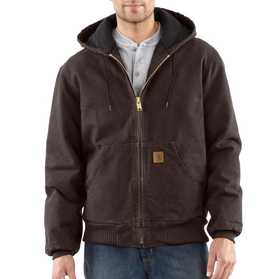 Carhartt J130-DKB Mens Sandstone Duck Active Jacket Sr Dark Brown