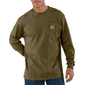 Carhartt K126ARG Mens Long Sleeve Workwear Pocket T Shirt Xlr