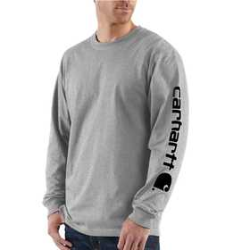 Carhartt K231HGY Mens Long Sleeve Logo T Shirt 2xlr