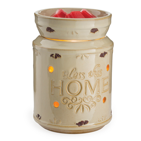 Candle Warmers Etc. RWBTHC Cream Bless This Home Illumination Candle Wax Warmer
