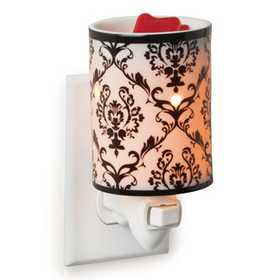 CANDLE WARMERS, ETC PIDP Damask Porcelain Pluggable Fragrance Warmer