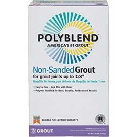 Custom Building Products PBG54410 Polyblend Grout Non-Sanded Rolling Fog 10lb