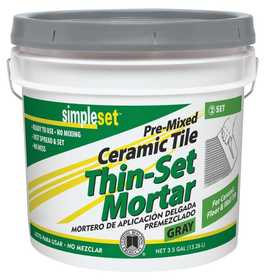 Custom Building Products CTTSG3 Thin-Set Tile Ceramic Premix 3.5 Gal