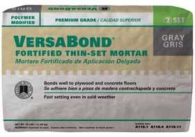 Custom Building Products MTSG25 Tile Set Mortar Versabond Gray 25lb