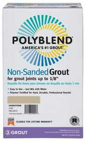 Custom Building Products PBG15610 Polyblend Grout Non-Sanded Fawn 10lb