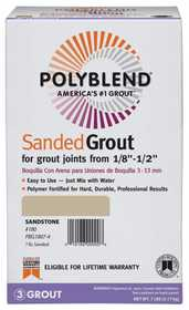 Custom Building Products PBG1457-4 Polyblend Grout Sanded Light Smoke 7lb
