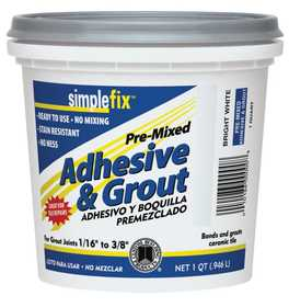 Custom Building Products TAGWQT Adhesive & Grout Premix White Qt