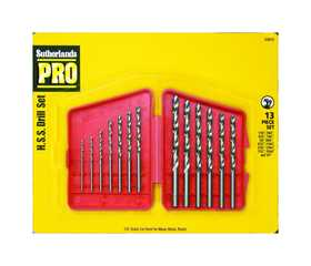 Sutherlands Pro 53013 13-Piece Butterfly Drill Set