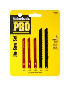Sutherlands Pro 53125 Jig Saw Blade Gen Purp Set 5pc
