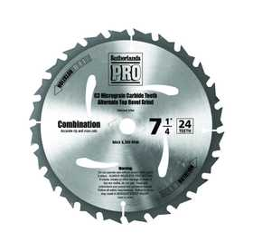 Sutherlands Pro 53945 Blade Saw Circ 71/4 Ht Treated 24t