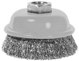 Century Drill & Tool 76031 3 in Crimped Angle Grinder Cup Brush, Coarse